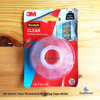 Double Tape 3M Scotch Clear Permanent Mounting Transparan Original