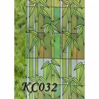 Sticker Stiker Kaca Jendela Bambu Hijau
