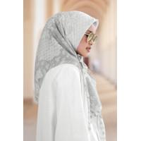 Haramain Voal Square - White