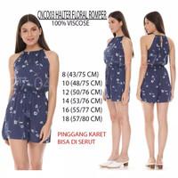 Jumpsuit Celana Pendek - Navy Abstract, 14
