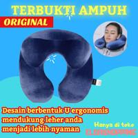 U shape travel pillow bantal leher penyangga leher