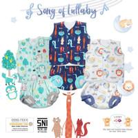 Setelan Baju kutung NB 0-3m Libby - Setelan Baju Bayi Libby