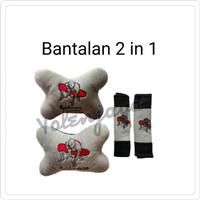 Bantalan 2in1 / bantal mobil 2 in 1 / Bantal 2 in 1 Spiderman