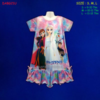 (DABG21U) Daster Anak Frozen Beautiful Dream (Usia 9-12 Thn)
