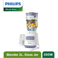 Philips Blender Gelas Kaca Beling 2L HR2222 HR 2222 2 Liter 350W
