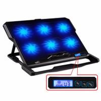 ICE COOREL Cooling Pad Laptop 6 Fan - K6 - Black