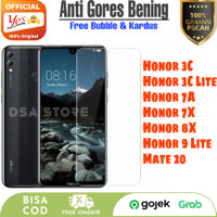 Anti Gores Bening Huawei Honor 3C 7A Temper Glass Clear Original Yes