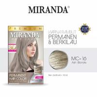 Miranda Permanent Hair Color MC-16 ASH BLONDE 30ML