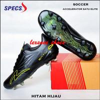 Sepatu sepak bola soccer specs accelerator satu elite - Hitam hijau, 41