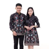couple batik sarimbit kemeja dan dress batik baju
