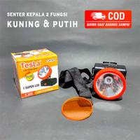 SENTER KEPALA TESLA 1 LED SUPER TLK-555 2 FUNGSI KUNING / PUTIH