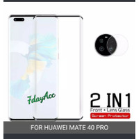 tempered glass full cover huawei mate 40 pro free glass kamera