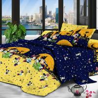 Bedcover Premium + Sprei Premium Mickey Mouse Night SUPERMURAH