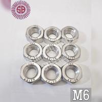 M6 Mur Stainless Steel SUS 304 Nut Only 6mm Anti Karat