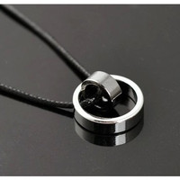 Kalung pria stainless cincin (include liontin) ready stok