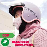 Helm Bogo Wanita Dewasa Retro SNI Klasik Cewek Hijab