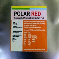 Polar Red Artemia Shell Free 10gr / Pakan Telur Artemia Tanpa Cangkang