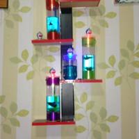 Aquarium mini cupang LED/tabung/portable/lampu tidur