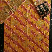 bahan sarimbit batik tulis prada motif parang couple 112SB