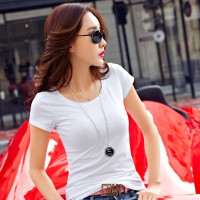 Kaos Polos Cewe T shirt Wanita Putih Hitam