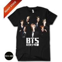 Kaos BTS Printing 3D Baju DEWASA Kpop Cewe Murah Meriah #REG-386 - No.0 (0-1 thn)