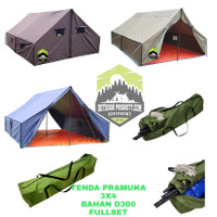 Tenda pramuka 3x4 bahan d300 korea