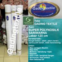 Kain katun jepang putih POLINO SILK sari warna bahan baju koko jilbab