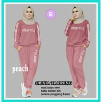 stelan training OLV/stelan olahraga muslimah/baju senam/baju olahraga