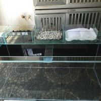 Aquarium top Filter Kaca tebal 5mm 50 60 80 100 cm pesan Costum Order