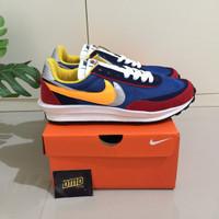 Sepatu Nike Sacai LDV Waffle Blue Red - Premium Original