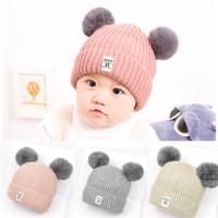 Topi Kupluk Anak Bayi Rajut Wol Lucu Imut Model Bulu Terbaru