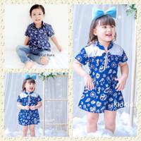 Batik Couple Anak Batik Anak Couple Kakak Adik Baju Warna Navy Biru