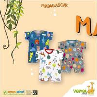 MAKASSAR - Romper / Baju Kodok Velvet Junior Segiempat 0-3 bulan 3pcs