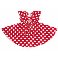 Baju Dress Anak Perempuan Katun 6-12 Bulan Motif Polkadot Merah Pita