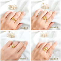 Cincin wanita model etnik polos model cidu elegan simpel emas asli