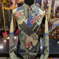 Baju Kemeja Batik pria motif Tulis Seperti ATBM SUTRA Pesta BR01
