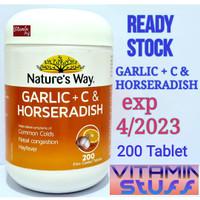 Nature's Natures Nature Way Garlic + C & Horseradish 200 Tablets