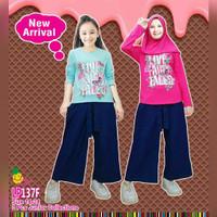 Baju Muslim Anak Perempuan Little Pineapple Kulot Jeans Junior 9-14thn