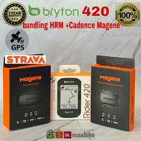 Bryton rider 420 bundling sensor Cadence plus HR Magene