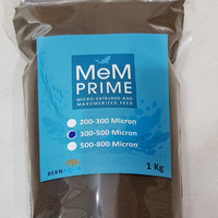 PELET / PELLET MEM 300 - 500 MIKRON 1kg / PAKAN IKAN 3/5