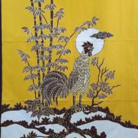 bahan batik tulis prada emas kain motif ayam