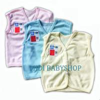Baju bayi tanpa lengan polos / Baju bayi buntung polos ( Nita Baby ) - Merah Muda