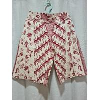 Celana Batik Kulot Premium (Panjang 3/4 , Motif B) - Cokelat