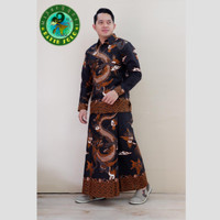 baju kemeja batik setelan sarung motif naga
