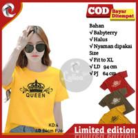 Kaos Tshirt Atasan Wanita Cewek Cewe Abg Remaja Quen Terbaru Babyterry
