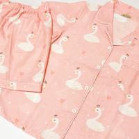 Piyama Millo Pink Swan Pj Set