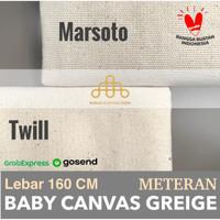 Canvas Grey Meteran Lebar 160 CM - Bahan Baby Kanvas Greige Bandung