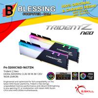 RAM 16GB GSKILL DDR4 2x8GB F4-3200C16D 16GTZN ( TridentZ NEO) RGB