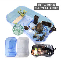 Turtle Tank XL 74 x 43 x 23 cm / Aquarium Box Ember Tempat Kura Air
