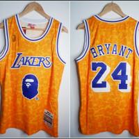 Jersey Basket NBA Lakers x Bape Kuning 24 Kobe Bryant